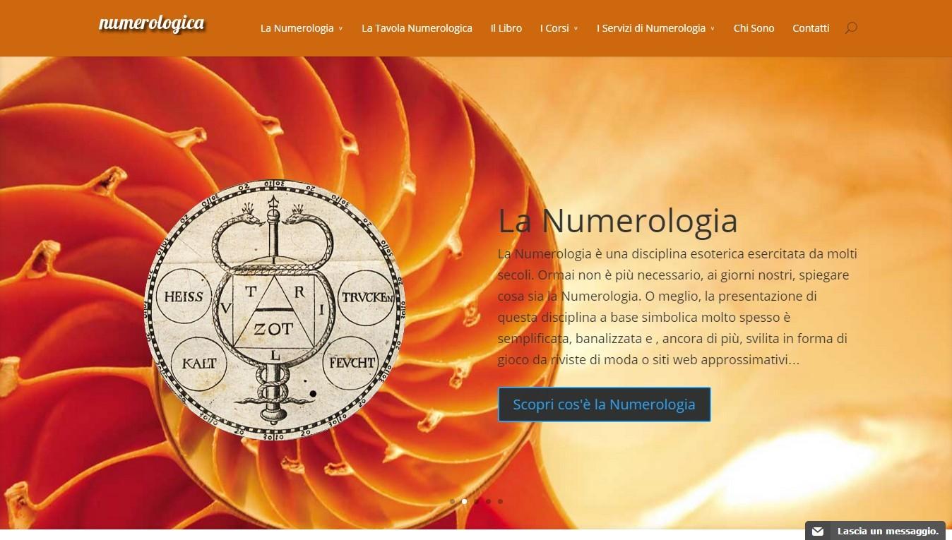 Home Page del sito Numerologica