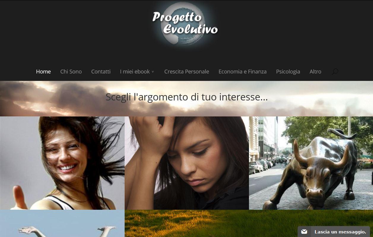Home page del sito Progetto Evolutivo di Vitiana Paola Montana